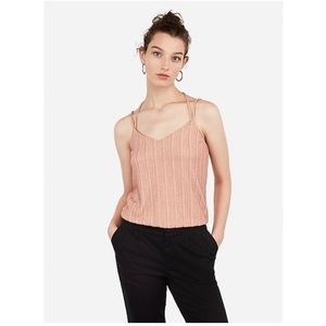 NWT Express Pink Metallic Strappy Back Bubble Cami